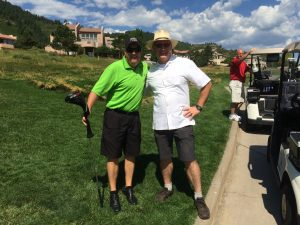 Scratch golfer Jeff Cummings of Duffy Crane with Brendan Dawson, Founder - Accident Plan.com
