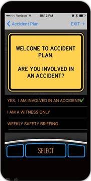 AccidentPlan App Home Screen